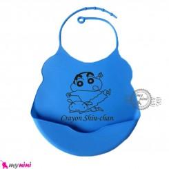 پیشبند غذا کودک سیلیکونی کاسه ای آبی لاجوردی بِی بی Baby silicone bib