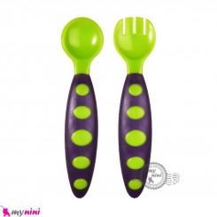 قاشق و چنگال بچه گانه طرح اسمارتیز kids spoon and fork