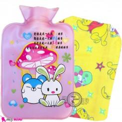 کیسه آبگرم و آبسرد کاوردار بزرگ نوزاد و کودک یاسی موش و خرگوش Hot and cold Water Bottle
