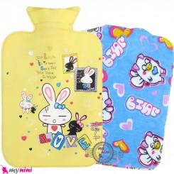کیسه آبگرم و آبسرد کاوردار نوزاد و کودک زرد خرگوش Hot and cold Water Bottle