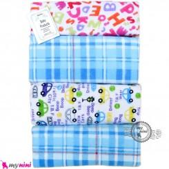 خشک کن سیسمونی نوزاد پنبه ای 4 عددی صورتی الفبای انگلیسی Mama papa baby blanket