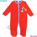 سرهمی نوزاد و کودک پنبه ای مارک کارترز 12 ماه نارنجی زرافه Carter's baby bodysuit