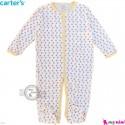سرهمی نوزاد و کودک پنبه ای مارک کارترز 12 ماه طرح مثلث Carter's baby bodysuit