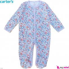 سرهمی نوزاد و کودک پنبه ای مارک کارترز 12 ماه نقش گل Carter's baby bodysuit