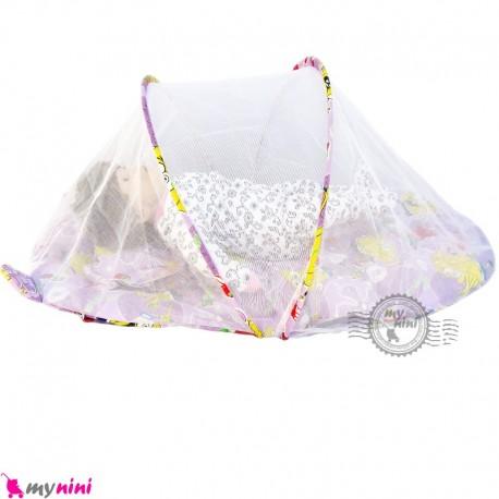 پشه بند تشک دار نوزاد و کودک مارک اسپرینگ یاسی باب اسفنجی Espring Baby mosquito net