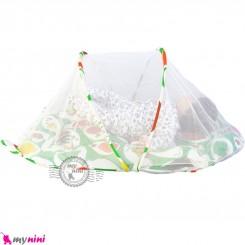پشه بند تشک دار نوزاد و کودک مارک اسپرینگ سبز جوجه Espring Baby mosquito net