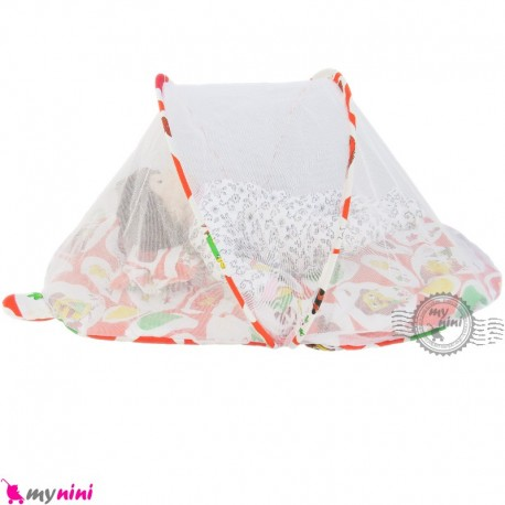 پشه بند تشک دار نوزاد و کودک مارک اسپرینگ نارنجی جوجه Espring Baby mosquito net