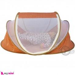 پشه بند سایز بزرگ نوزاد و کودک مارک اسپرینگ قهوه ای Espring Baby mosquito net