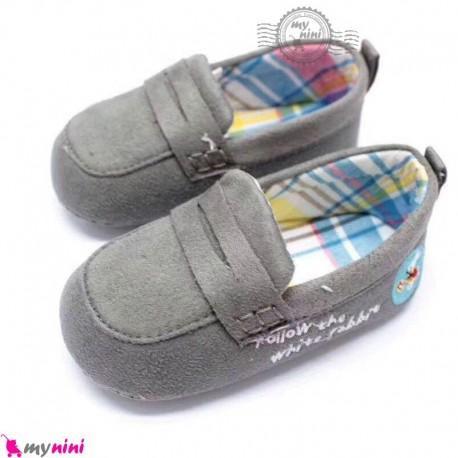 کفش کالج نوزاد و کودک طوسی Baby footwear