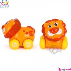 شیر اسباب بازی هویلی تویز نشکن Huile Toys animal cars