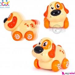 حیوانات هویلی تویز سگ و گربه اسباب بازی نشکن Huile Toys animal cars