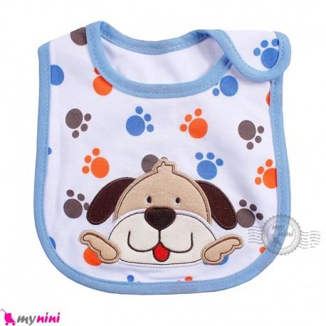 پیشبند 3 لایه نوزاد و کودک آبی سگ کارترز Carters Bib