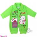 سرهمی نوزاد و کودک سبز طرح خرسی Baby sleepsuits