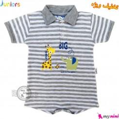 رامپرز نوزاد و کودک نخی جونیورز طوسی Juniors kids gray clothes