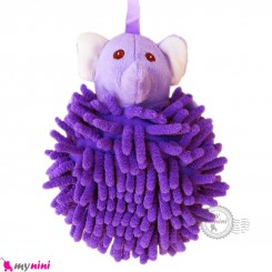 لیف عروسکی نوزاد رشته ای فیل یاسی baby bath fiber