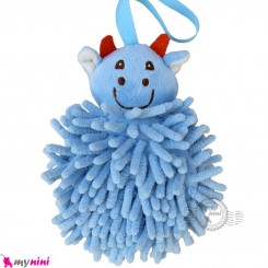 لیف عروسکی نوزاد و کودک رشته ای گاو آبی baby bath fiber