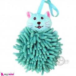 لیف عروسکی نوزاد رشته ای گربه سبز baby bath fiber
