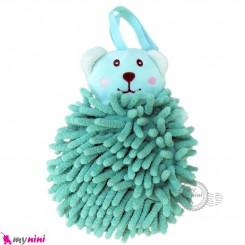 لیف عروسکی نوزاد رشته ای خرس سبز baby bath fiber
