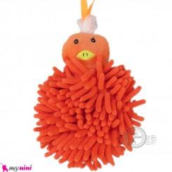 لیف بچه گانه عروسکی رشته ای جوجه نارنجی baby bath fiber