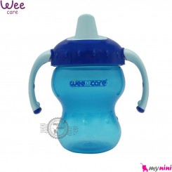 لیوان ضد چکه آموزشی مارک وی رنگ آبی سوپاپ دار wee care trainig cup