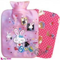 کیسه آبگرم و آبسرد کاوردار بزرگ نوزاد و کودک یاسی خرگوش Hot and cold Water Bottle