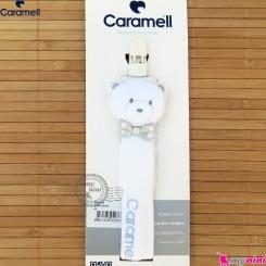 بند پستانک نوزاد مارک کارامل ترکیه سفید خرسی Caramell baby pacifier holder