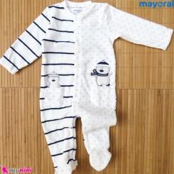 سرهمی گرم بچگانه مخمل پنگوئن مارک اورجینال مایورال اسپانیا  mayoral baby fleece pajamas