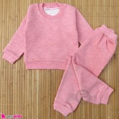 ست بلوز و شلوار گرم بچگانه دورس مرجانی توکُرکی Baby warm clothes set