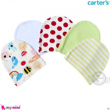 کلاه نوزاد کشی پنبه ای مارک کارترز 5 عددی Carter's Newborn cotton hat