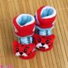 جوراب نوزاد عروسکی قرمز آبی گربه Baby cartoon socks