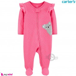 سرهمی کارترز اورجینال نخ پنبه صورتی کوآلا carter's pajamas