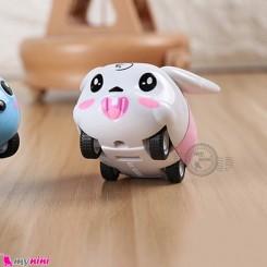 ماشین فلزی عقب کش فانتزی سفید خرگوش mini diecast cars toys