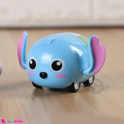 ماشین فلزی عقب کش فانتزی آبی روشن کارتونی mini diecast cars toys