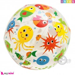 توپ اینتکس 61 سانتیمتر طرح دریایی Intex lively printed Beach Balls
