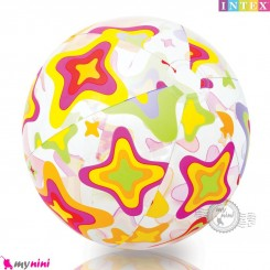 توپ اینتکس 61 سانتیمتر طرح ستاره Intex lively printed Beach Balls