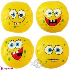 توپ اسفنجی بی خطر بچه گانه 4 عددی باب اسفنجی Baby soft balls toys