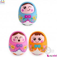 عروسک تعادلی صدادار نوزاد و کودک هویلی تویز Huile Toys Tumbler doll