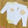 ست بادی آستین بلند و شلوار مارک نکست نخ پنبه ای خورشید 0 تا 3 ماه Next baby clothes set