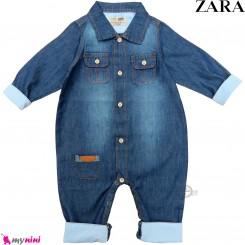 سرهمی لی بچه گانه مارک اورجینال زارا Zara baby jean jumpsuits
