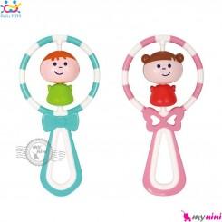 جغجغه و دندانگیر 2 کاره مارک هویلی تویز دختر و پسر Huile Toys shake N'spin angel rattle