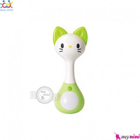 اسباب بازی حیوانات موزیکال هویلی تویز دندانگیر دار 2 کاره 6 مدل Huile Toys baby musical teether toys