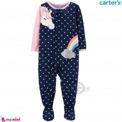 سرهمی کارترز اورجینال نخ پنبه سرمه ای یونی کورن carter's pajamas