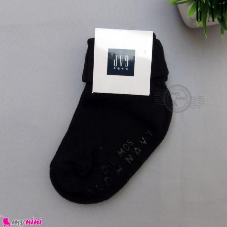 جوراب بچه گانه مارک گپ اورجینال کره جنوبی 0 تا 6 ماه لبه برگردان Baby Gap socks